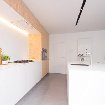 Zijaanzicht keukenblok
